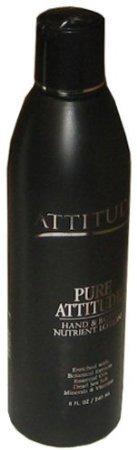 Attitudeline Pure Attitude Line Hand & Body Nutrient Lotion 8oz Black Bottle