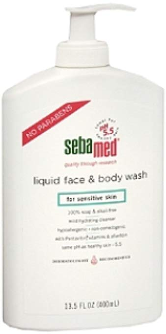 Sebamed Liquid Face & Body Wash for Sensitive Skin 13.50 oz (Pack of 4)